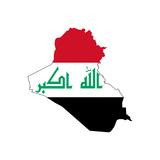 Iraq Flag On Map