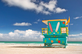 Miami Beach Florida, Lifeguard House Papier Photo par Fotomak