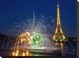 Eiffel Burst Tableau sur toile par AJ Messier