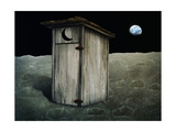 Outhouse On The Moon Reproduction d'art par Anatomyofrockthe