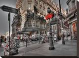 Metro Red Paris Tableau sur toile par AJ Messier