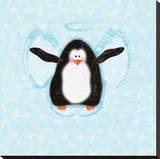 Penguin In Snow Angel