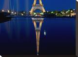 Reflected Eiffel Paris Tableau sur toile par AJ Messier
