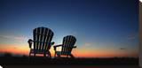 Chairs Sunset Tableau sur toile par Dale MacMillan