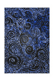 Swirly Blue Mosaic Ornament