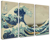 The Great Wave Off Kanagawa 3-piece set