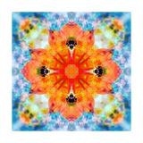 Orange Cross Mandala