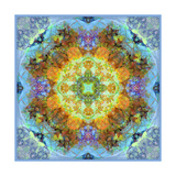 Flower Mandala Royal Baby Blue