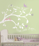 Rock-a-bye Bird Branch Peel & Stick Giant Wall Decal
