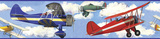Vintage Planes Peel & Stick Border Wall Decal