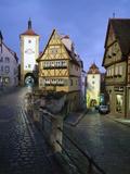 Plonlein Building and Road Fork  Rothenberg Ob Der Tauber  Germany