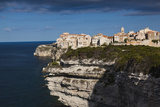 Elevated View of City and Cliffs  Bonifacio  Corsica  France