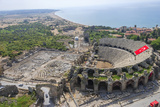 Aerial View of the Amphitheater in Side  Antalya  Turkey