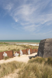 Ruins of German Bunkers  Courseulles Sur Mer  Normandy  France