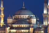 Evening Light on Blue Mosque  Istanbul  Turkey