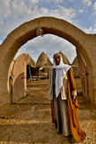 Host Greeting Us to His Mud Brick House in Harran  Turkey