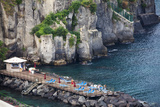 Sun Bathing Dock Along the Sorrento Water Front  Italy