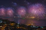 Fireworks Display over the Bosphorus  Istanbul  Turkey