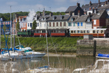 Town View with Tourist Train  Somme Bay  Le Crotoy  Picardy  France