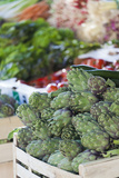 Artichokes at Place Marechal Foch Market  Ajaccio  Corsica  France