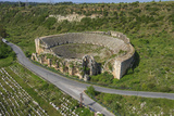 Aerial View of the Amphitheater  Perge  Antalya  Turkey