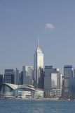City Skyline View from Victoria Harbor  Hong Kong  China