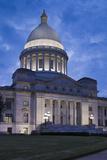 Arkansas State Capitol Exterior at Dusk  Little Rock  Arkansas  USA
