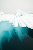 Glacial Iceberg Floating Along Coast  Spitsbergen  Svalbard  Norway