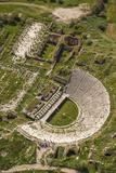 Aerial View of the Amphitheater  Aphrodisias  Aydin  Turkey