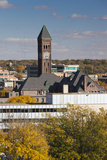 Elevated Skyline with Old Courthouse  Sioux Falls  South Dakota  USA
