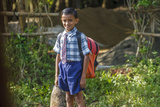 Male Elementary School Student  Backwaters  Kerala  India