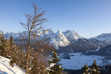 Mieminger Mountain Chain During Winter  Tyrol  Austria