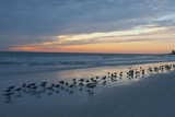 Cloudy Sunset on Crescent Beach  Siesta Key  Sarasota  Florida  USA