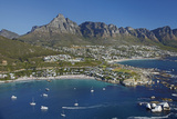 Aerial of Clifton Beach and Camps Bay  Cape Town  South Africa