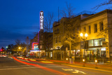 Tower Theatre on Wall Street at Dusk  Bend  Oregon  USA