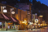 Main Street at Dusk  Deadwood  South Dakota  USA