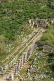 Aerial View of Perge  Antalya  Turkey