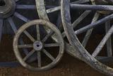 Rustic Wagon Wheels on Movie Set  Cuba