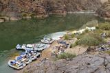 Camping on the Colorado River  Grand Canyon NP  Arizona  USA