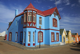 Colorful German Colonial Architecture  Luderitz  Namibia