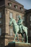 King Christian Ix Statue  Christiansborg Palace  Copenhagen  Denmark