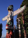 Totem Pole Stanley Park  Vancouver  Canada