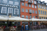 Crowds at Cafes and Restaurants  Nyhavn  Copenhagen  Denmark