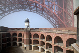 Fort Point and Golden Gate Bridge  San Francisco  California  USA