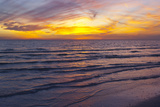 Sunset on Crescent Beach  Siesta Key  Sarasota  Florida  USA