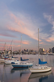 Sunset View of Marina and Downtown  San Diego  California  USA