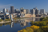 St Paul  Skyline from Mississippi River  Minneapolis  Minnesota  USA