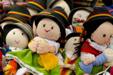 Hand Made Dolls in Highland Costume  Otavalo Market  Quito  Ecuador