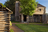 Replica of Fort Nashborough  Nashville  Tennessee  USA