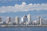 Punta Del Este Skyline over the Rio De La Plate  Uruguay